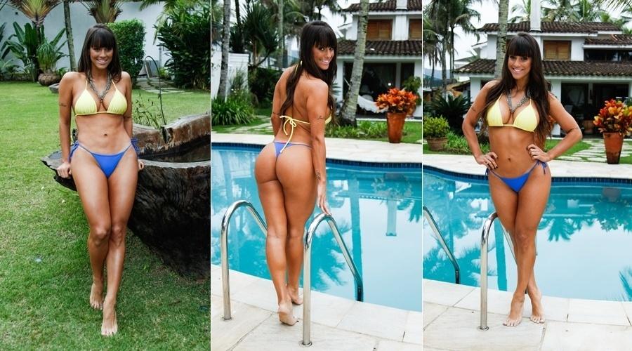 16.jul.2012 - A panicat Carol Dias fez ensaio de biquíni para a próxima edição do calendário Sirena que será lançado em 2014. As fotos foram feitas em uma casa localizada no Guarujá, litoral de São Paulo