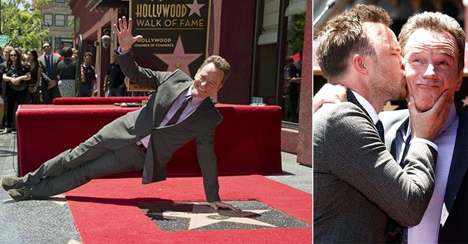 """16.jul.2013 - Bryan Cranston, de """"Breaking Bad"""", ganha estrela na Calçada da Fama"""