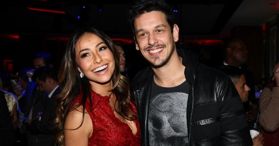 17.jul.2013 - Sabrina Sato com o namorado João Vicente de Castro em evento de uma marca de carros em São Paulo
