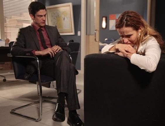 """Em """"Amor à Vida"""", Félix se torna álibi de Glauce"""