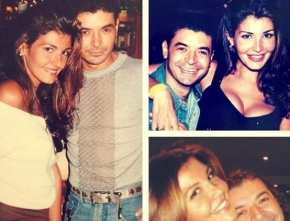 David Brazil em diversos momentos com a modelo Roberta Close