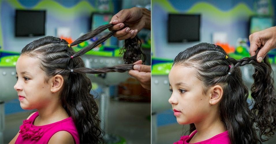 Aprenda Passo A Passo A Fazer Um Penteado Infantil Em Cabelo