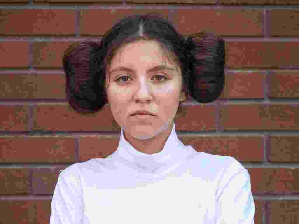 """18.jul.2013 - Princesa Leia investiu no penteado e na roupa para compor uma Princesa Leia de """"Star Wars"""" - FRED GREAVES/Reuters"""