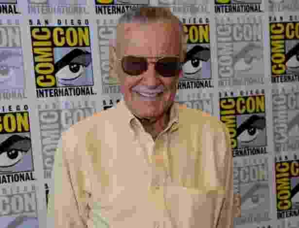 "19.jul.2013 - O ícone dos quadrinhos ""Stan Lee"" vai a painel de seu canal do YouTube ""World of Heroes"" durante a Comic-Con - Ethan Miller/Getty Images/AFP"