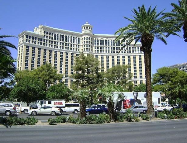 Fachada do Bellagio, um dos hotéis mais tradicionais e luxuosos de Las Vegas