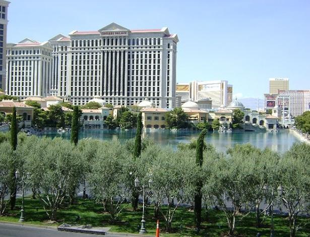 Fachada do Caesars Palace, em Las Vegas