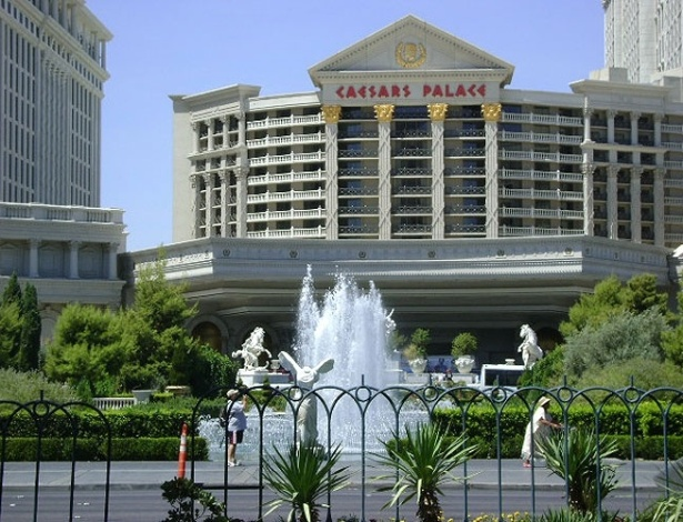 Fachada do Hotel Caesars Palace, na Strip, em Las Vegas