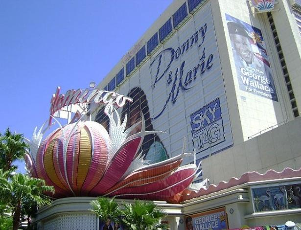 Fachada do Hotel Flamingo, em Las Vegas, nos Estados Unidos