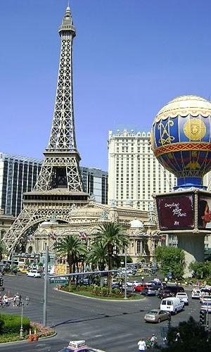 Fachada do Hotel Paris, em Las Vegas