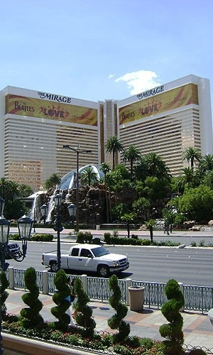 Fachada do hotel The Mirage, na Strip, em Las Vegas