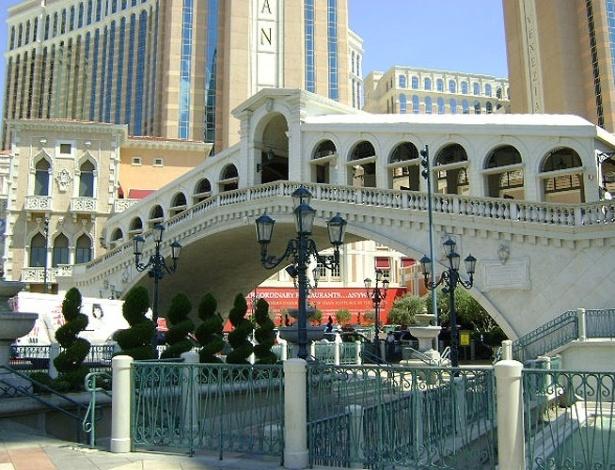 Fachada do Venetian, hotel inspirado na cidade italiana de Veneza