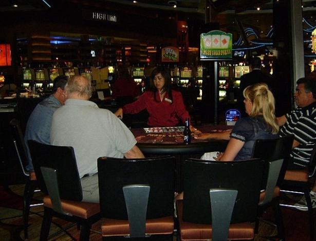 Mesa de jogo no New York New York, em Las Vegas