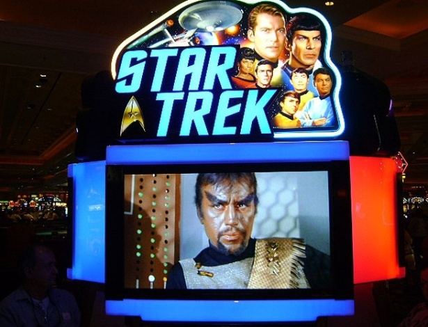 """Trekkies de todo o mundo podem se divertir nesta máquina que tem o """"Jornada nas Estrelas"""" como tema"""