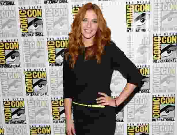 "20.jul.2013 - A atriz Rachelle Lefevre em evento da série ""Under the Dome"" na Comic-Con - Ethan Miller/AFP"