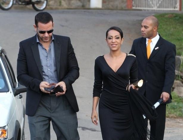 20.jul.2013 - A atriz Samantha Schmütz prestigia o casamento da atriz Fiorella Mattheis com o ex-judoca Flávio Canto em Petrópolis, na região serrana do Rio