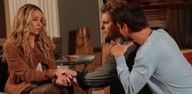 """Cena de """"Amor À Vida"""", com Amarilys (Danielle Winits) e o casal Eron (Marcello Antony) e Niko (Thiago Fragoso). O trio estará na passarela da TNG no Fashion Rio - Divulgação/TV Globo"""