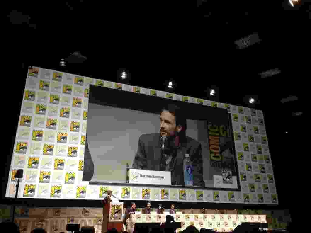 """O ator Rodrigo Santoro participa da Comic-Con no painel de """"300 - A Ascensão de um Império"""". - Natalia Engler/UOL"""