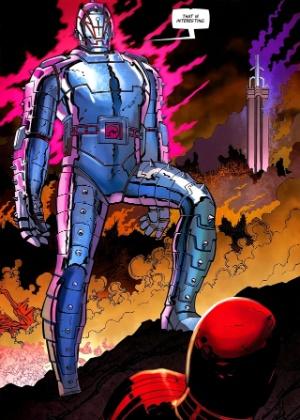"""O vilão Ultron, desenhado por John Romita Jr., na série mais recente dos """"Vingadores"""" - Reprodução"""