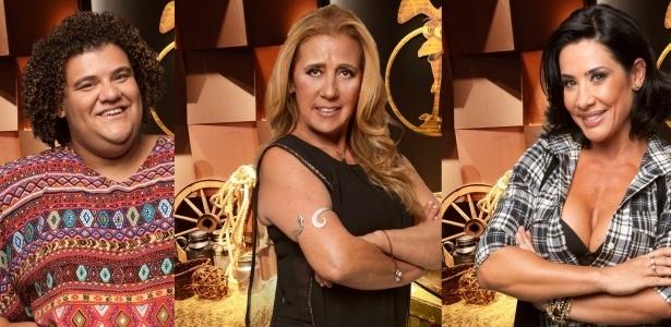 20.jul.2013 - Gominho, Rita Cadillac e Scheila Carvalho são indicados à 4ª roça da temporada