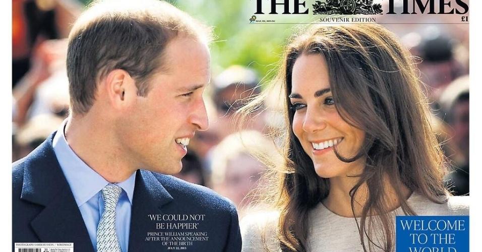 """O """"The Times"""" publicou a declaração do príncipe William, """"não poderíamos estar mais felizes"""""""