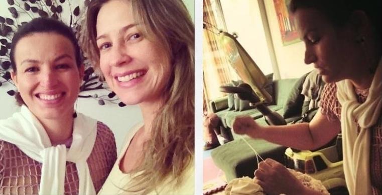 23.jul.2013 - Alzira Vieira é a responsável pela confecção do vestido de crochê que Luana Piovani usará em seu casamento