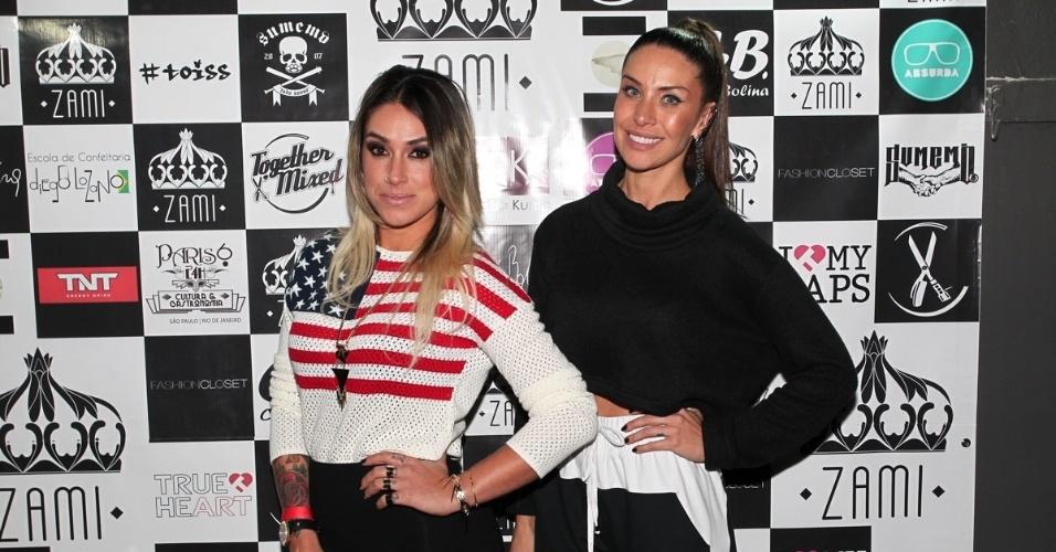 23.jul.2013 - As amigas Dani Bolina e Lizzi Benites inauguraram uma loja de roupas em São Paulo. As ex-panicats realizaram um coquetel e receberam os amigos