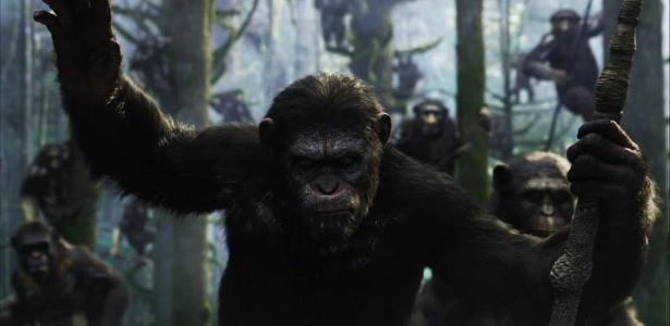 """Imagem do macaco Caesar, vivido por Andy Serkis, em """"Planeta dos Macacos - O Despertar"""" - Reprodução/Facebook"""