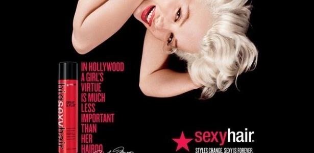 Marilyn Monroe para Big Sexy Hair - Divulgação