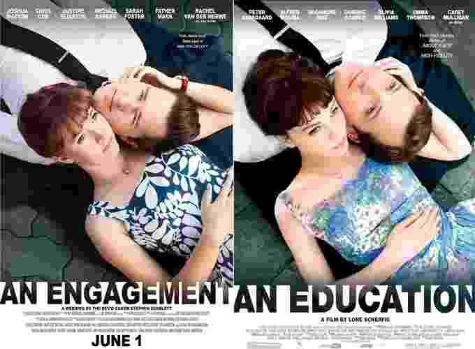 Casal norte-americano Josh e Rachel Watson trabalha na indústria de filmes e, apaixonados por cinema, recriaram pôsteres para anunciar o casamento - Divulgação/Jordan Nakamura/Josh e Rachel Watson