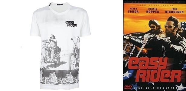 """Cena do filme """"Easy Rider"""", com o ator Peter Fonda, virou estampa de camiseta da Dolce & Gabbana - Divulgação"""