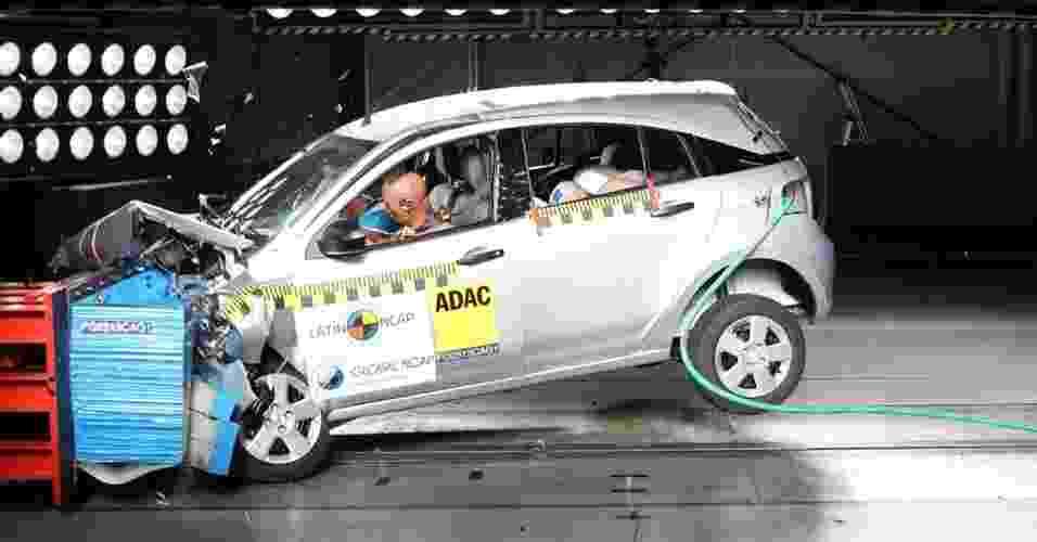 Chevrolet Agile crash test - Divulgação