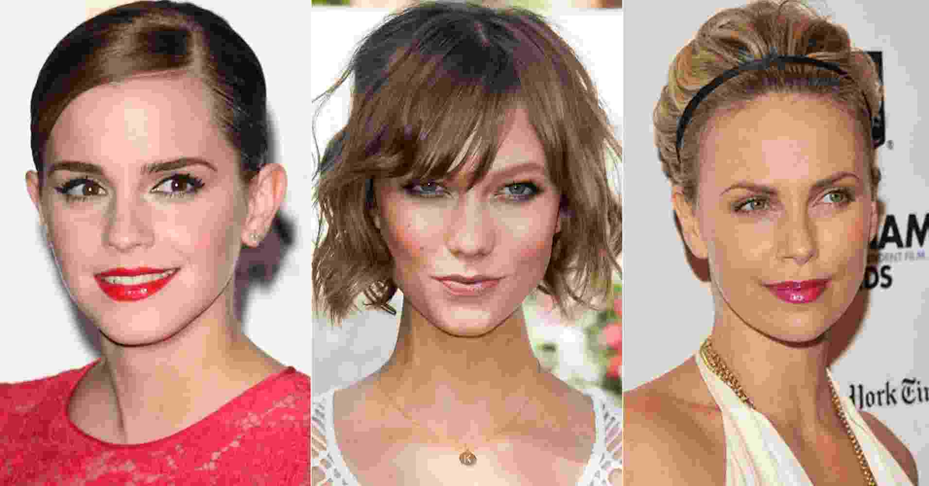 Emma Watson, Karlie Kloss e Charlize Theron - Getty Images/Montagem/UOL