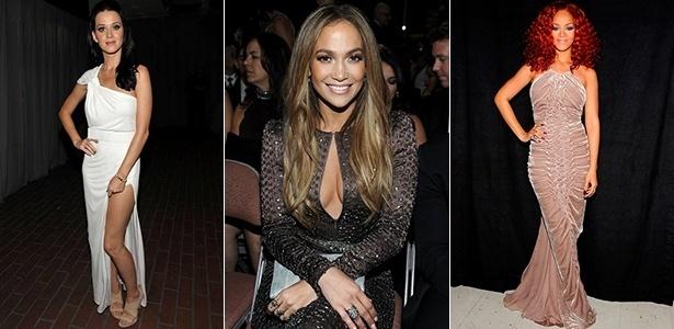 Katy Perry, Jennifer Lopez e Rihanna estão entre as famosas que elegeram looks brasileiros para eventos e tapetes vermelhos - Getty Images