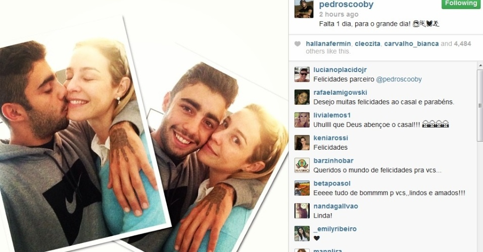 25.jul.2013 - Pedro Scooby publicou montagem com Luana Piovani em seu Instagram: