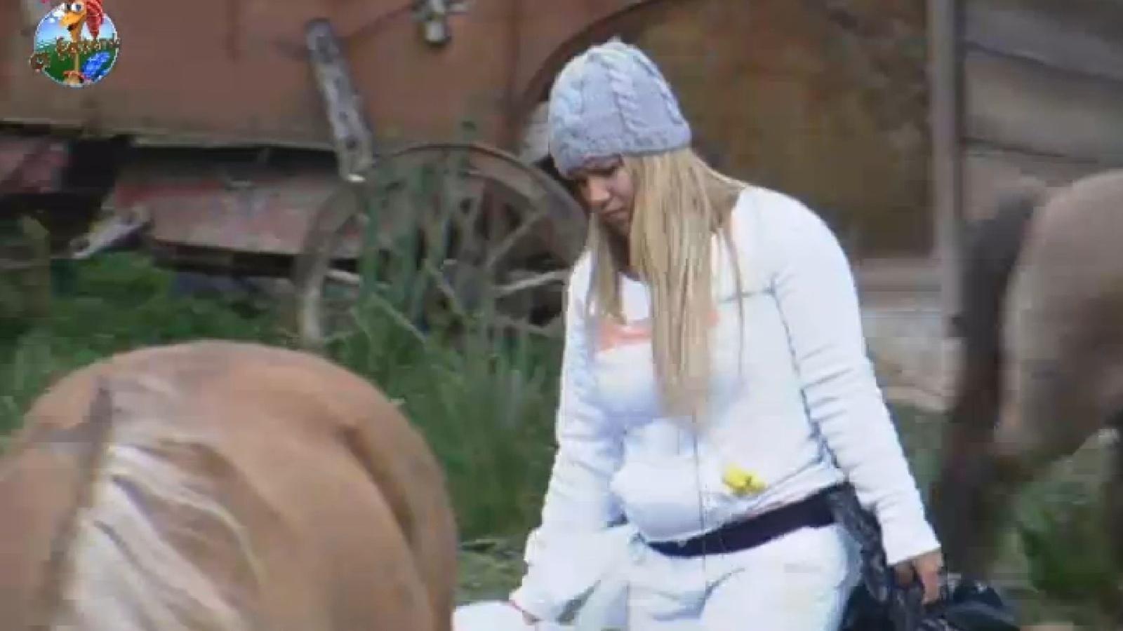 26.jul.2013 - Mulher Filé conta para integrantes da equipe Avestruz que peões da sede ficaram tristes após ver filme
