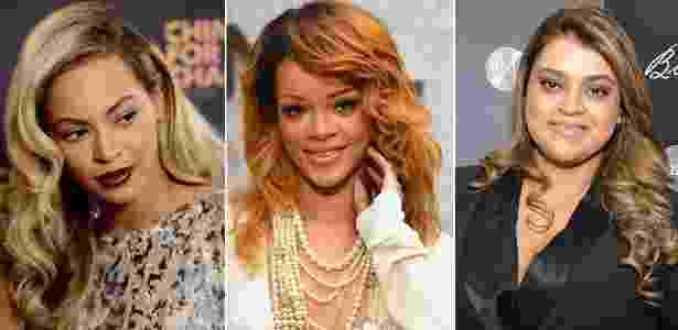 Beyoncé, Rihanna e Preta Gil são algumas das famosas que apostam em diferentes tonalidades de cabelos loiros para iluminar a pele - Getty Images e AgNews
