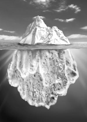 Sigmund Freud comparava a mente humana a um iceberg do qual apenas uma pequena parte está visível; a maior parte está submersa e, portanto, oculta como o inconsciente - Thinkstock