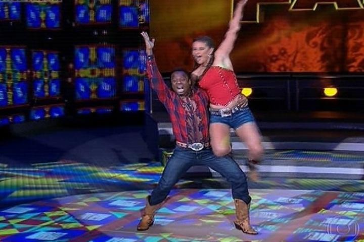 28.jul.2013 - dança dos famosos, repescagem Edilson