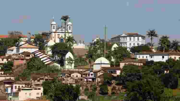 Conjunto arquitetônico do Santuário de Bom Jesus de Matosinhos, em Congonhas (MG), é composto pela Basílica, um adro e seis passos da Via Sacra - Marcus Desimoni/UOL
