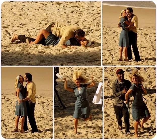 """Os atores Carolina Dieckmann e Domingos Montagner gravam cenas da nova novela das seis, """"Joia Rara"""", da Globo"""