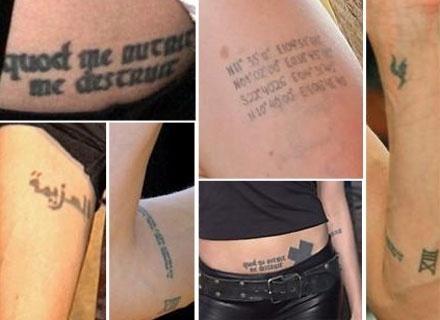Angelina Jolie tem mais tatuagens do que se vê aqui