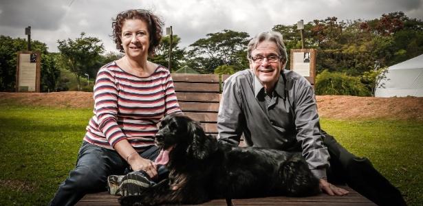 O ex-casal Vilma Lúcia Fernandes e Josebel Rubin dividem a guarda do cão Mel Brooks - Leandro Moraes/UOL