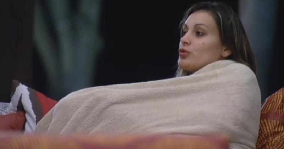 30.jul.2013 - Andressa diz que Bárbara perdeu o foco no jogo após se apaixonar por Mateus