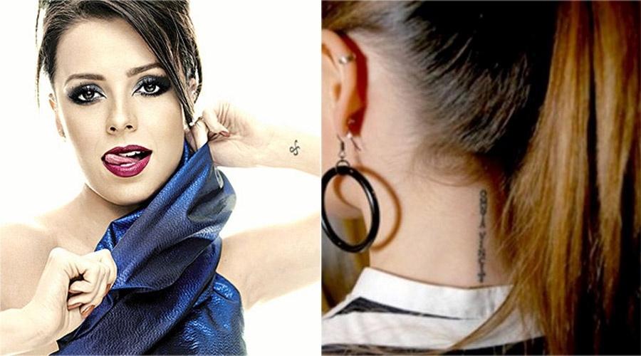 Sandy tem duas tatuagens