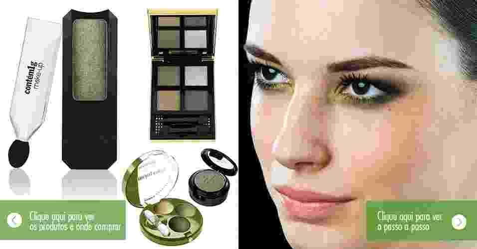 Sombra verde- guia de compras e tutorial - Thiago Alvite/Montagem/UOL