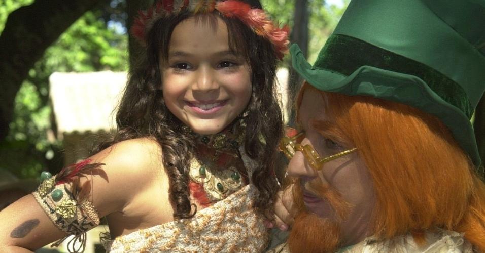 """Em 2004, Bruna fez uma participação no """"Sítio do Pica-Pau Amarelo"""". Ela interpretou a personagem Jajale, ao lado de Candido Damm, que fazia o Visconde"""