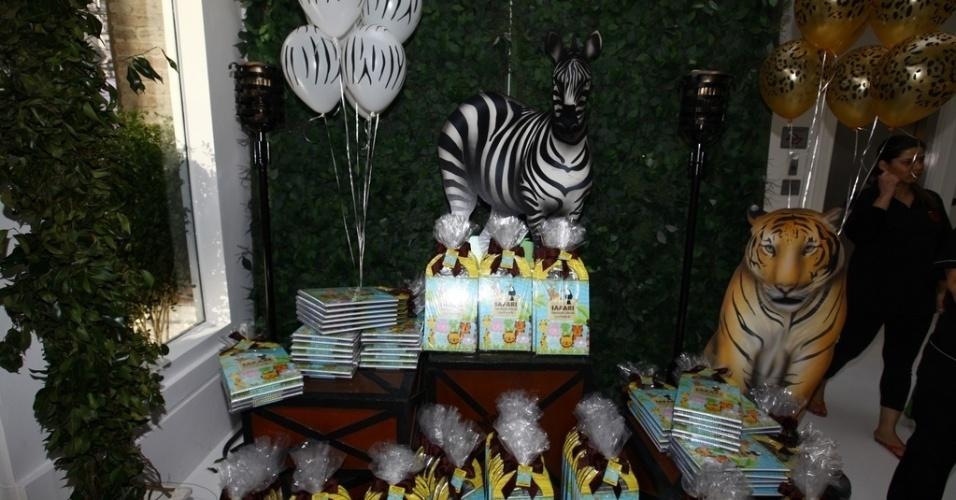 05.ago.2013 - Festa de 3 anos de Vittorio, filho de Adriane Galisteu e Alexandre Iódice