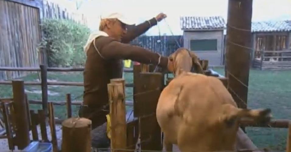 06.ago.2013 - Paulo Nunes cuida das cabras