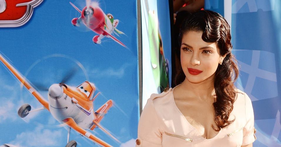 """5.ago.2013 - Modelo e atriz indiana, Priyanka Chopra participa do filme """"Aviões"""""""