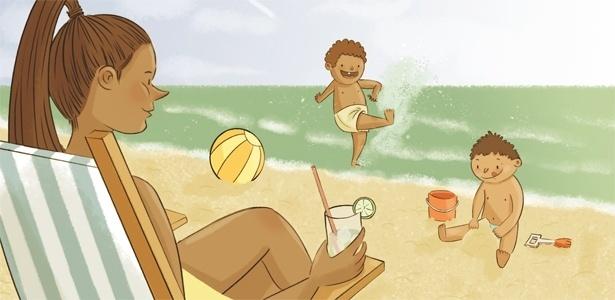 No verão, em ambiente doméstico, meu filhos vivem pelados, o que reduz o trampo com roupa